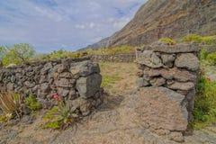 Zaniechani domy W El Hierro wyspie Fotografia Stock