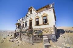 Zaniechani domy w Kolmanskop, Namibia Fotografia Stock