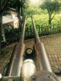 Zaniechani przeciwlotniczy pistolety w parku zdjęcia stock