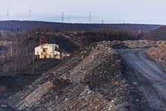 Zaniechany antracyta węgla odpady stos - Pennsylwania Zdjęcie Stock