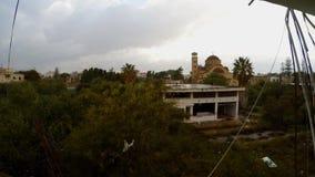 Zaniechany Ayios Ioannis kościół w miasto widmo Varosha w Północnym Cypr zbiory