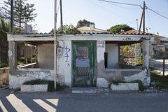 Zaniechany budynek, Grecja, 2016 fotografia stock