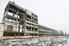 Zaniechany budynek w winer Zdjęcia Royalty Free