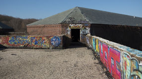 Zaniechany budynku dach Fotografia Royalty Free
