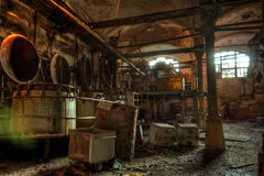 Zaniechany butchery w mięsnym zakładzie przetwórczym Rzeźnia Ros Obraz Stock