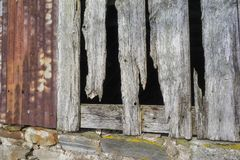 Zaniechany Croft Wielkanocny Crannich na Dava Cumuje w Szkocja fotografia stock