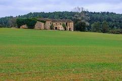 Zaniechany dom na wsi w Catalonia, Hiszpania Zdjęcie Royalty Free