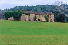 Zaniechany dom na wsi w Catalonia, Hiszpania Obrazy Stock
