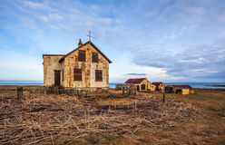 Zaniechany dom w Iceland obrazy stock
