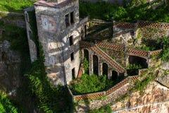 Zaniechany dom w starym Porto śródmieściu, Portugalia Obraz Stock