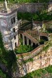 Zaniechany dom w starym Porto śródmieściu, Portugalia Zdjęcie Stock