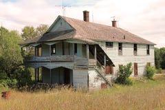 zaniechany dom wiejski Obrazy Royalty Free