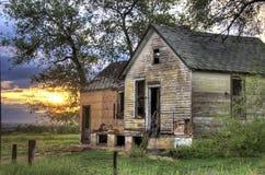 zaniechany dom wiejski zdjęcie royalty free