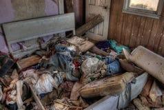 Zaniechany dom wiejski w Wiejskim Południowym Dakota w Wczesnym spadku Zdjęcia Royalty Free