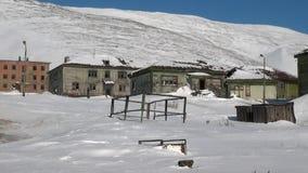 Zaniechany domowy miasto widmo Gudym Anadyr-1 Chukotka daleka północ Rosja zdjęcie wideo