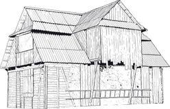 Zaniechany drewniany dom Zdjęcia Royalty Free
