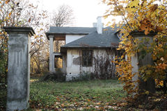 Zaniechany dworu dom Zdjęcia Stock