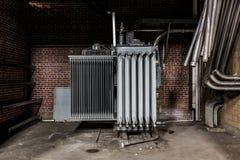 Zaniechany elektrownia transformator - Ohio Obrazy Stock