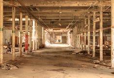 zaniechany fabryczny stary zdjęcie royalty free