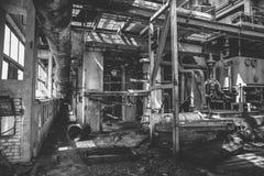 Zaniechany fabryczny wnętrze inside Zdjęcia Stock
