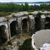 Zaniechany fort w Chorwacja obrazy royalty free