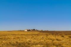 Zaniechany gospodarstwo rolne dom zdjęcia stock