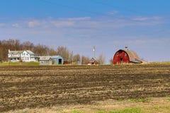 Zaniechany gospodarstwo rolne krajobraz fotografia royalty free