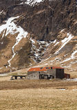 Zaniechany gospodarstwo rolne w Iceland Obraz Royalty Free
