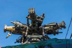 Zaniechany helikopter niszczył Obrazy Stock