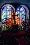 Zaniechany Kolorowy Żydowski synagoga sanktuarium Zdjęcie Stock