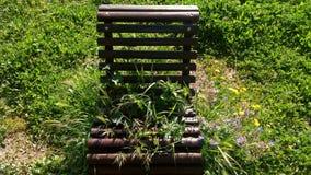 Zaniechany krzesło w parku Obrazy Stock