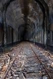Zaniechany linia kolejowa tunel - Ohio obraz stock