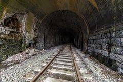 Zaniechany linia kolejowa tunel - Pennsylwania zdjęcie stock