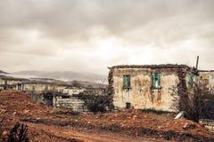 Zaniechany miasteczko w Ptolemaida Greece fotografia stock