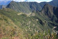 Zaniechany miasto Machu Picchu i Huayna Picchu góra Zdjęcie Royalty Free