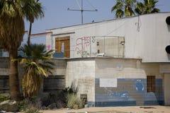 Zaniechany motel zdjęcia royalty free