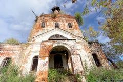 Zaniechany Ortodoksalny kościół w Europejskiej części Rosja Obrazy Royalty Free