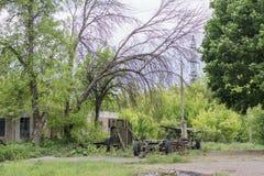 Zaniechany podwórze obóz letni Obraz Stock
