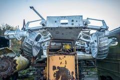 Zaniechany promieniotwórczy technik który uczestniczył w likwidacji wypadek obrazy royalty free
