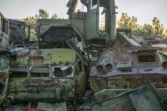 Zaniechany promieniotwórczy technik który uczestniczył w likwidacji wypadek zdjęcie stock