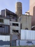 Zaniechany przemysłowy miejsce w Baltimore fotografia stock