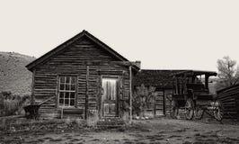 Zaniechany rancho dom w Bannack, Mt Obraz Royalty Free
