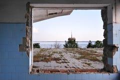 Zaniechany rekreacyjny centrum Zdjęcie Royalty Free