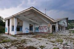 Zaniechany rekreacyjny centrum Obrazy Stock