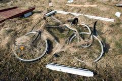 Zaniechany rower w południowym Jutland obrazy royalty free