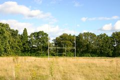Zaniechany rugby pole Obrazy Stock