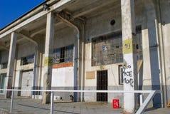 Zaniechany schronienie w Belgrade obraz stock