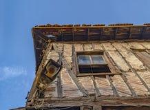 Zaniechany Turecki tradycyjny dom w Ulus sąsiedztwie, Ankara, Turcja obraz royalty free