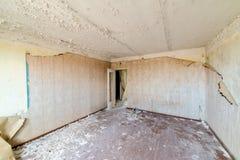 Zaniechany wnętrze w ruinach militarna ugoda Obraz Stock