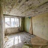 Zaniechany wnętrze w ruinach militarna ugoda Obrazy Stock